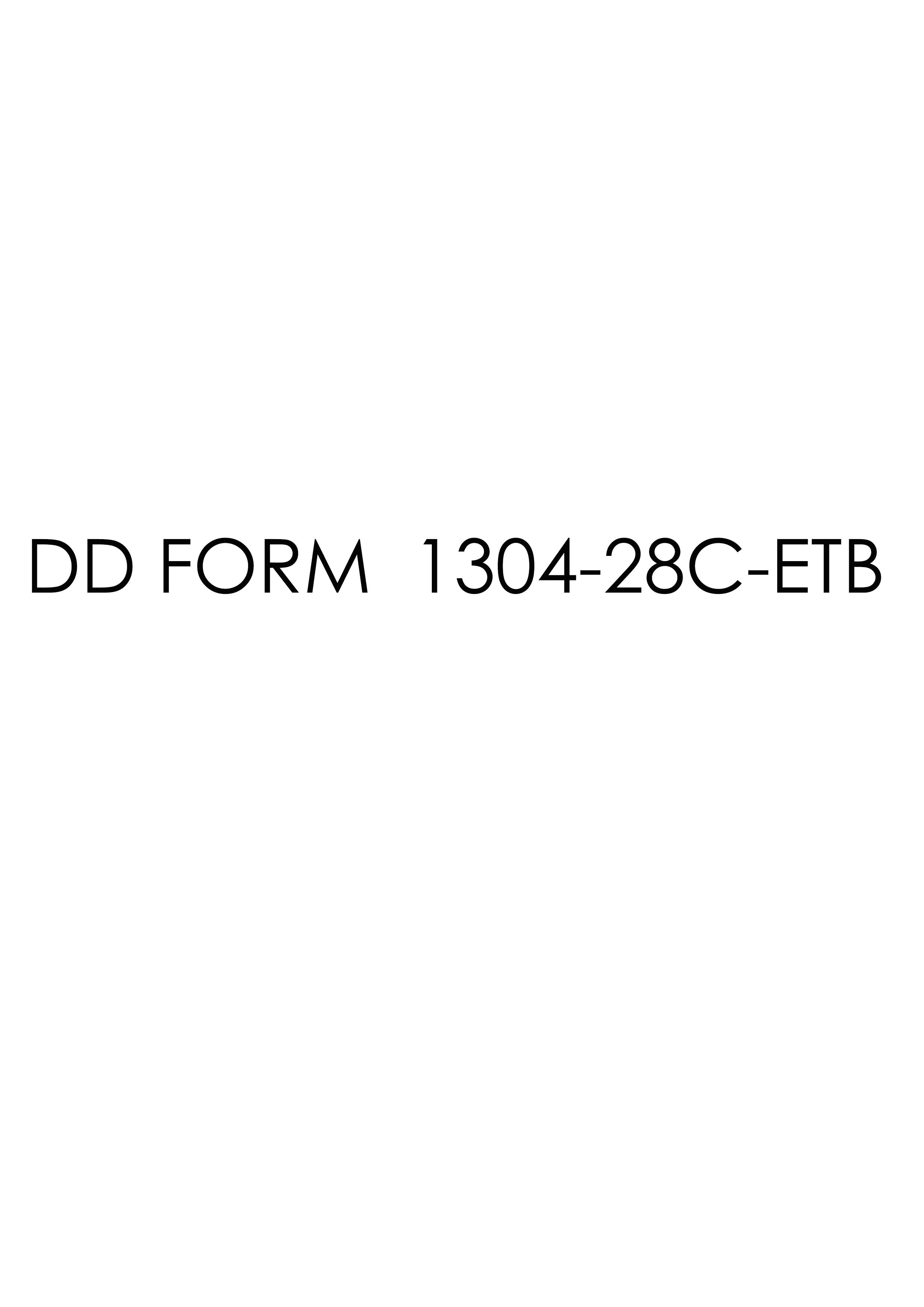 Download dd Form 1304-28C-ETB Free