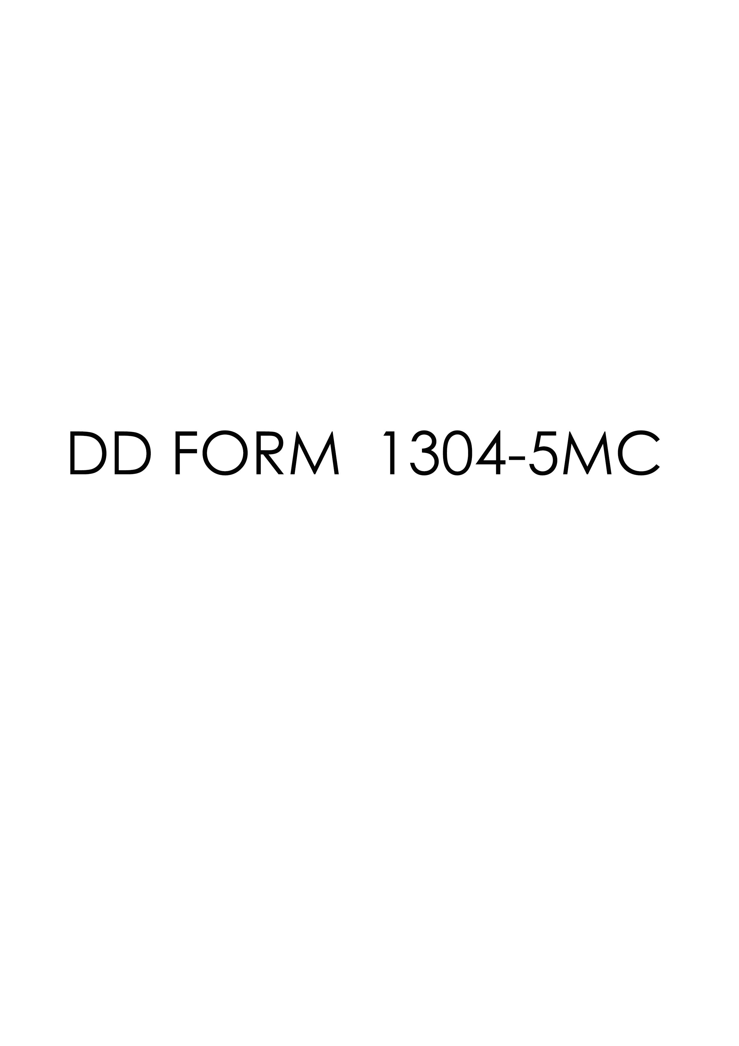 Download dd Form 1304-5MC Free