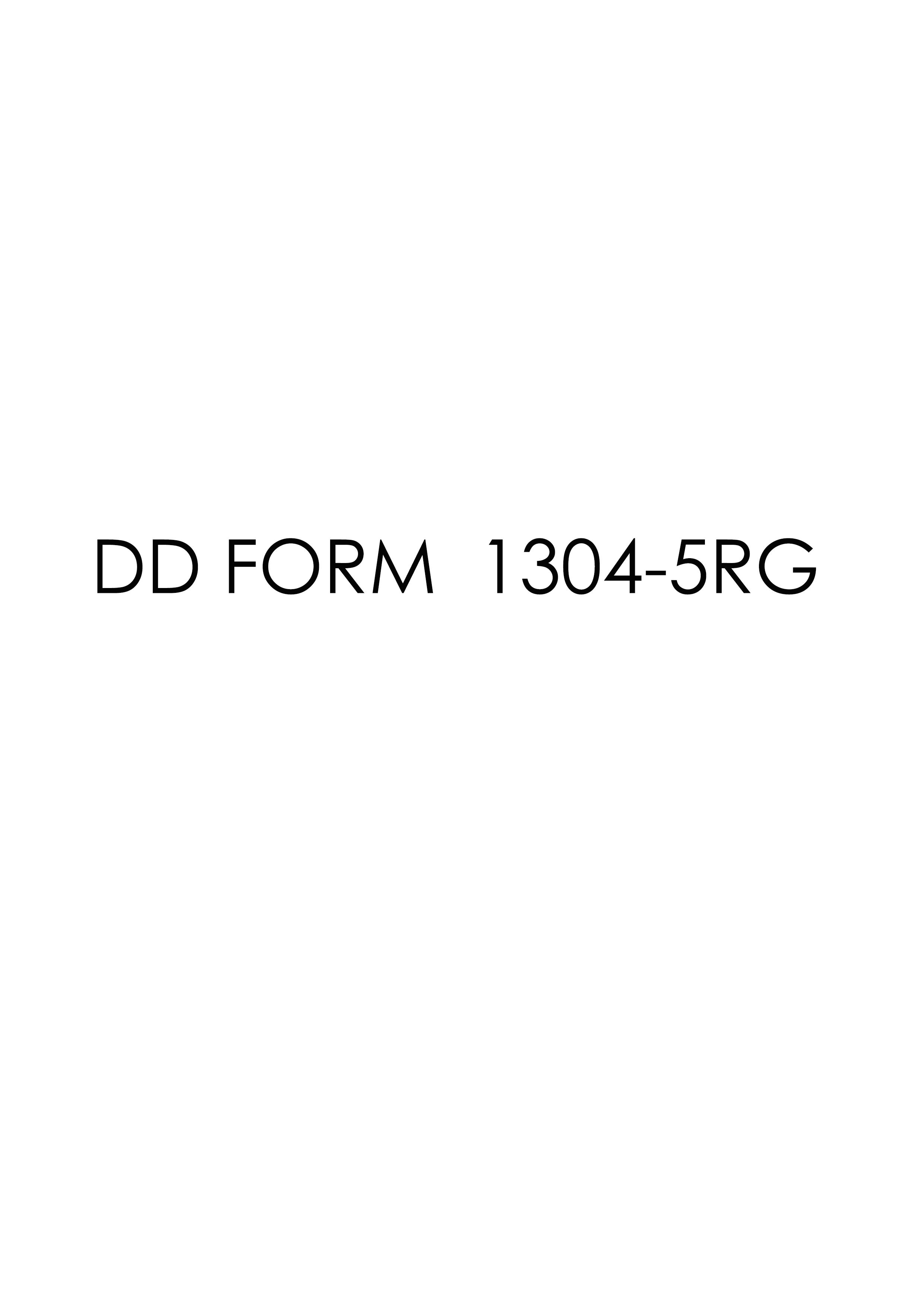 Download dd Form 1304-5RG Free