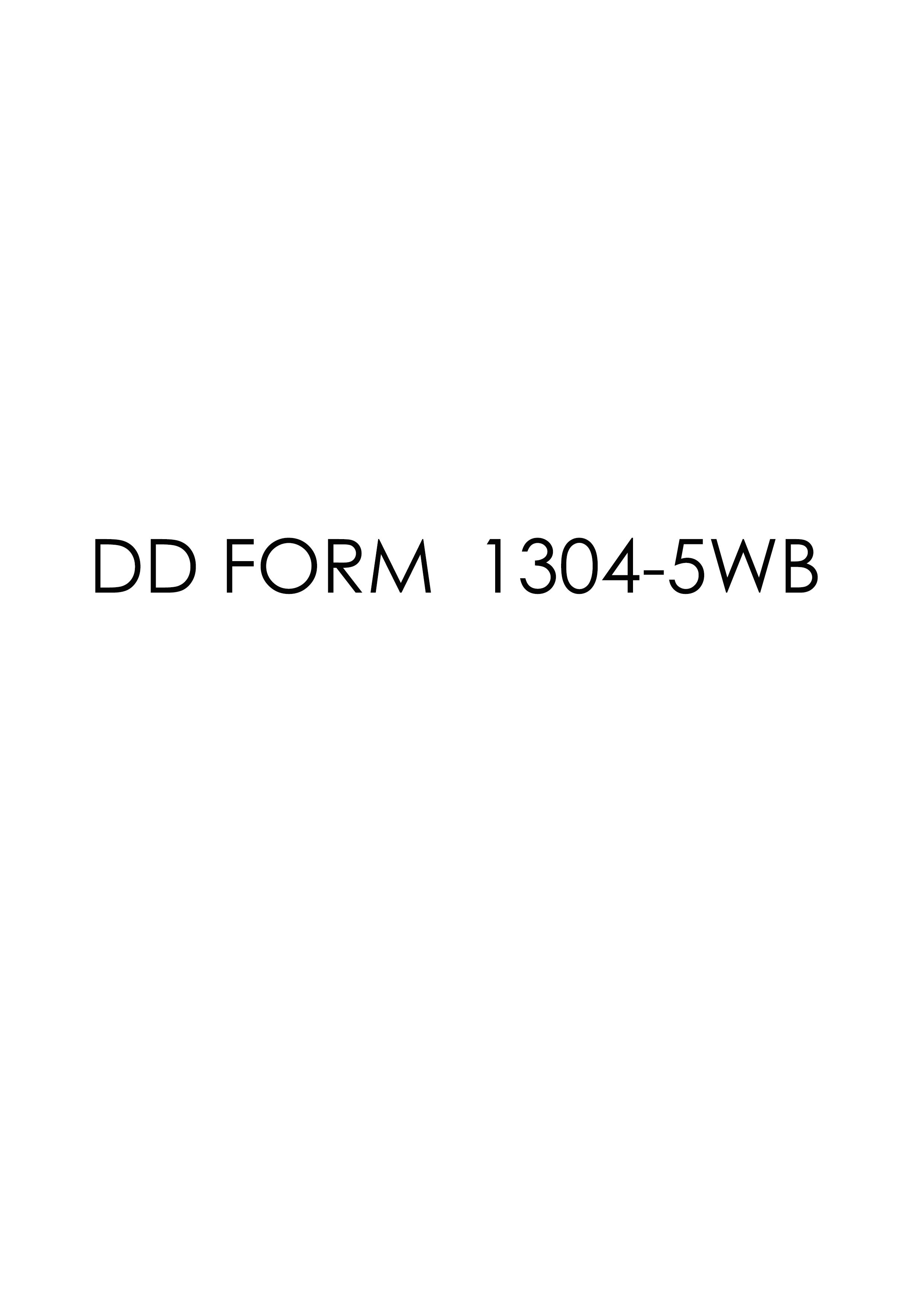Download dd Form 1304-5WB Free