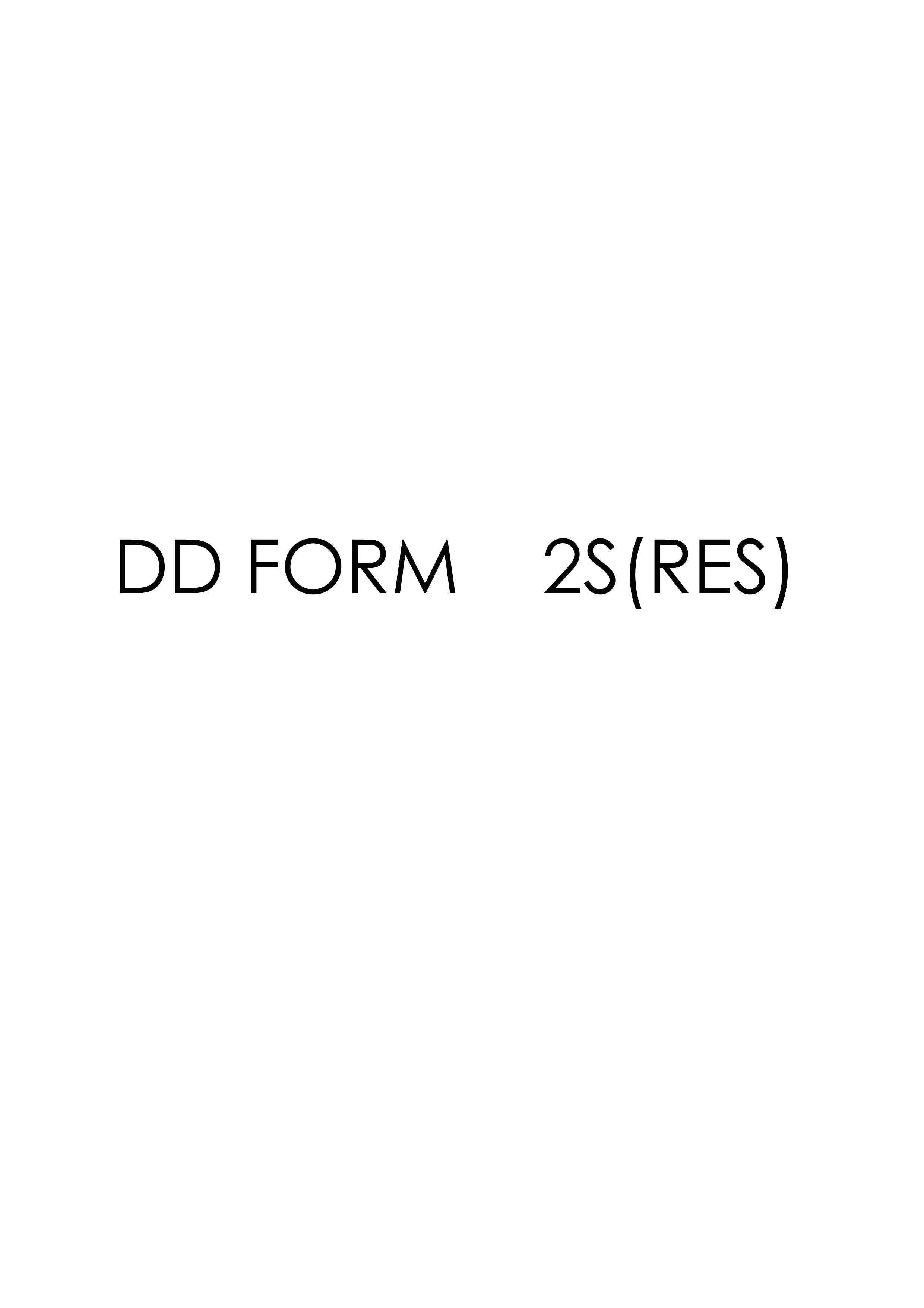 Download dd Form 2S(RES) Free