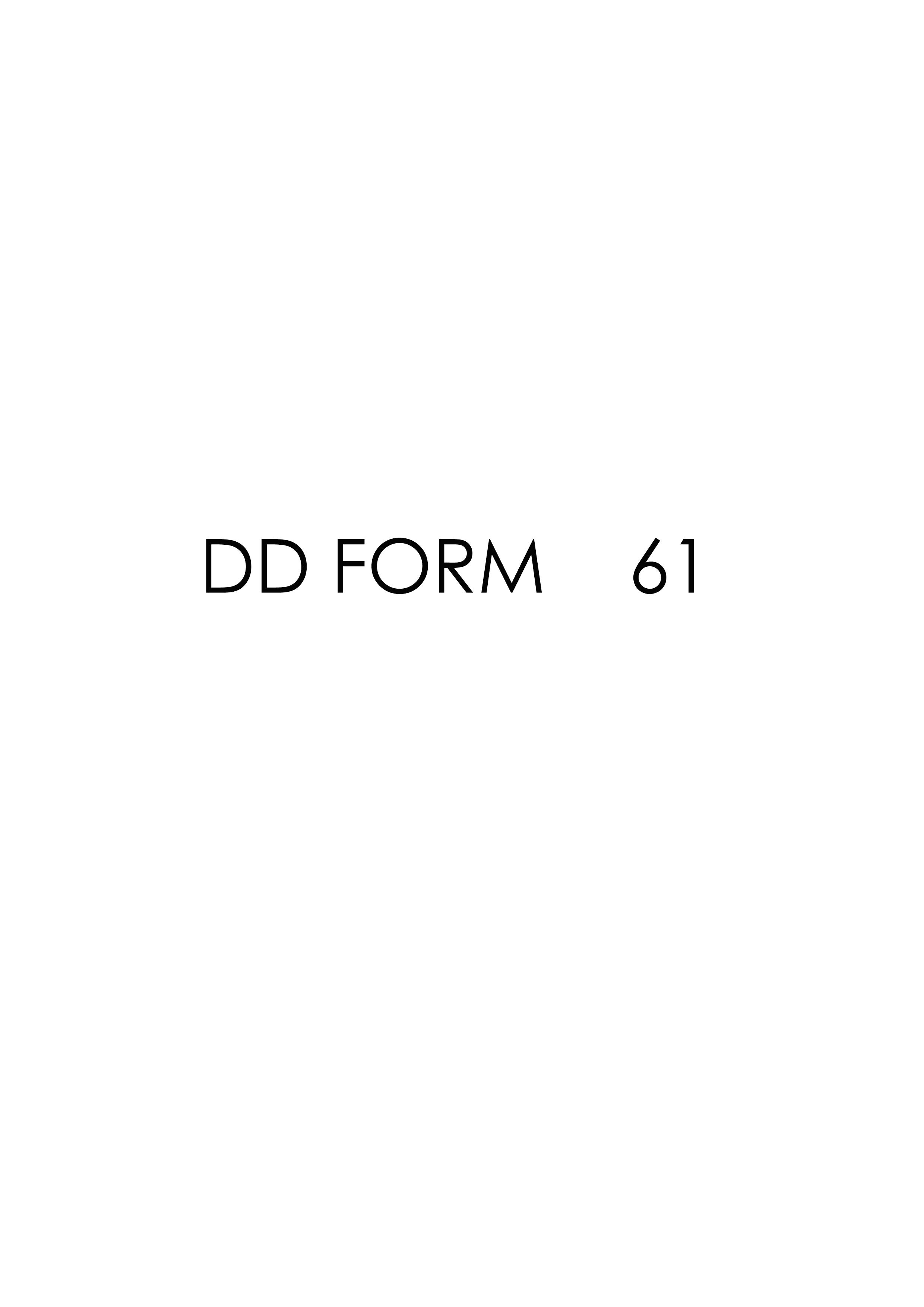 Download dd Form 61 Free