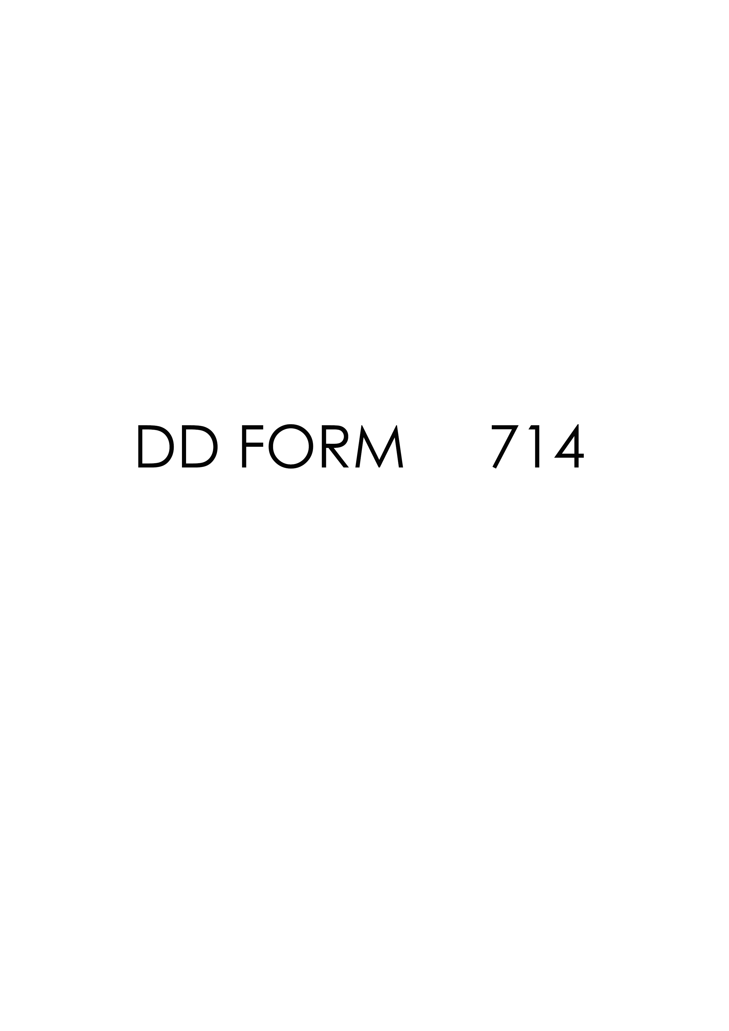 Download dd Form 714 Free